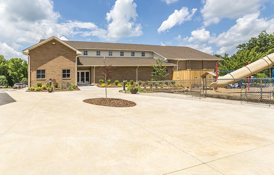 landmark builders pleasant garden baptist church youth building landmark builders