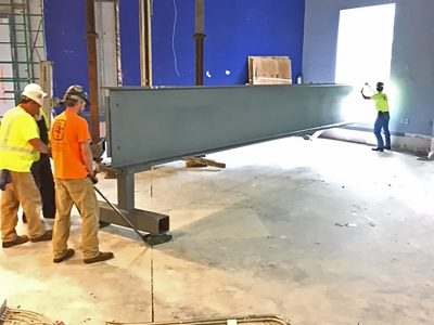 Spectrum News Studio 40 foot steel beam